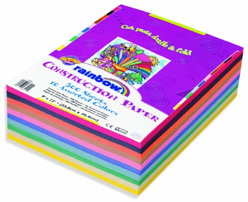 Rainbow Super Value Construction Paper Ream, 9 inches x12 inches, 500 Sheets (6555) Picture