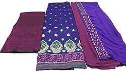 Alankar Textiles Panjabi Suit Piece Blue Color Cotton Dress Material