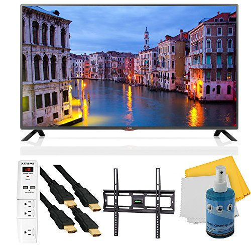 "39Lb5600 - 39"" Full Hd 1080P 60Hz Led Hdtv Mci 120 Plus Mount & Hook-Up Bundle. Bundle Includes Tv, Flat Tv Mount, 3 Outlet Surge Protector W/ 2 Usb Ports, 2 -6 Ft High Speed Hdmi Cables, Performance Tv/Lcd Screen Cleaning Kit, And Cleaning Cloth."