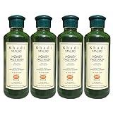 Khadi Mauri Honey Face Wash Pack of 4 Herbal Natural Ayurvedic 210 ml each