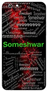 Someshwar (Lord Krishna) Name & Sign Printed All over customize & Personalized!! Protective back cover for your Smart Phone : Samsung Galaxy A-3