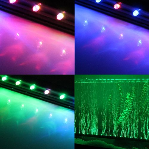 Aquarium Fish Tank 12 Colorful Led Strip Light Lighting Coral Reef