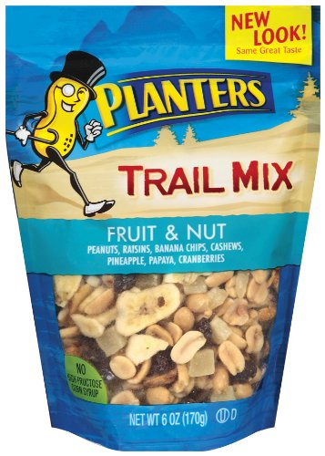 Planters Trail Mix, Fruit & Nut, 6-Ounce Bags (Pack of 12)