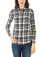 Fred Perry Camisa Mujer (Marfil / Chocolate)