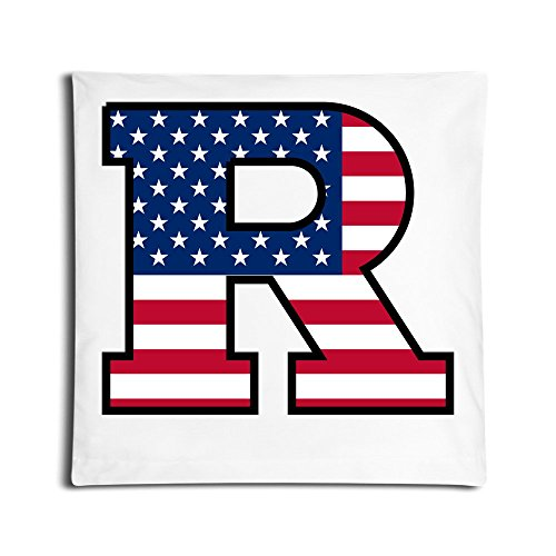 AHOO Vintage Rutgers R Logo Flag University Throw Pillow Case One Side 45*45 CMS Square