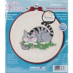 Dimensions Needlecrafts Needlepoint, A Cat And A Mouse