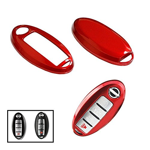 iJDMTOY (1) Exact Fit Gloss Metallic Red Smart Key Fob Shell For Nissan 370Z Altima Cube GT-R Maxima Murano Pathfinder Rogue, etc (Nissan Altima Accessories Red compare prices)