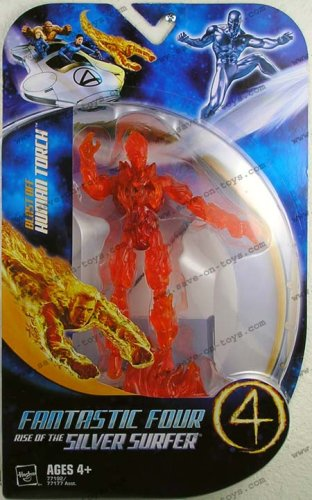 Picture of Hasbro Fantastic 4 Action Figure Blast Off Human Torch (B000M6EZAS) (Fantastic Four Action Figures)