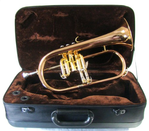 The JinYin Model E110G Flugelhorn with Case, Mouthpiece