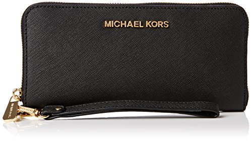 Michael Kors Portefeuille Jet Set Travel Tech Continental,  Nero Black (001 Black)