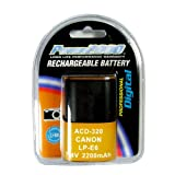 Power2000 LP-E6 Replacement Lithium-Ion Battery, 7.4 volt 2200mAh, for Canon EOS 5D Mark II & 7D Digital Cameras ~ Power 2000