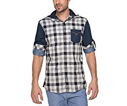 Copperstone Men's Casual Shirt (8903944563193_Black_Large)