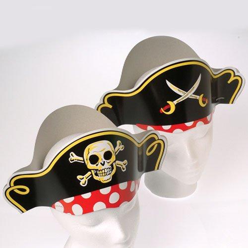 Dozen Pirate Captain Cardboard Party Hats