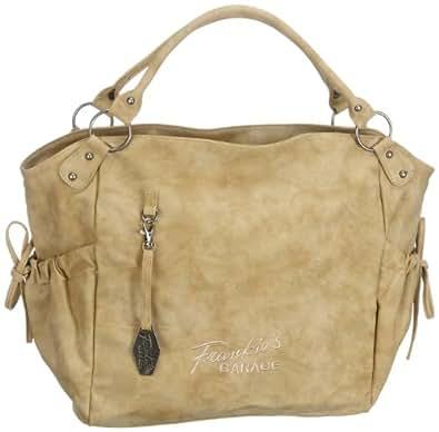 Frankie's Garage Urban Shopper Bag S210459-060 Damen Shopper, Beige (beige), 28x29x12 cm (B x H x T)