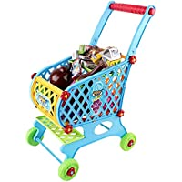 Toy Shopping Cart With 46 Shopping Accesories Included
