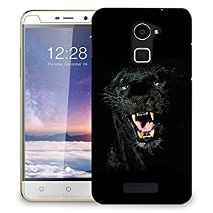 Snoogg Black Animal Designer Protective Back Case Cover For COOLPAD NOTE 3 LITE
