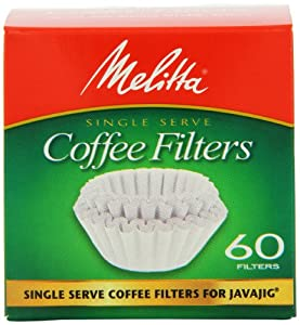 Melitta Java Jig, Single Serve Paper Coffee Filters, 60-Count