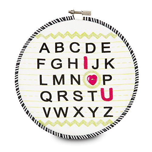 "Pavilion Gift Company 38181 Embroidered Wall Covering, 6-3/4"", I Love You Alphabet"