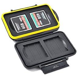 JJC MC-CF4 Rugged Water-Resistant Memory Card Case (4x CF / CompactFlash)