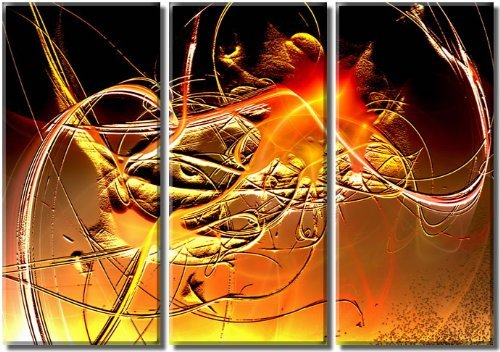 Framed Huge 3 Panel Abstract Modern Canvas Art Fairy Giclee Canvas Print