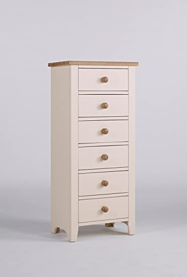 Whinfell white painted bedroom furniture 6 Drawer Wellington chest drawers