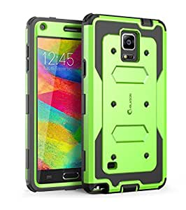 Galaxy Note 4 Case, i-Blason Armorbox Dual Layer Hybrid Full-body Protective Case For Samsung Galaxy Note 4 [SM-N910S / SM-N910C] with Front Cover and Built-in Screen Protector / Impact Resistant Bumpers (Green)
