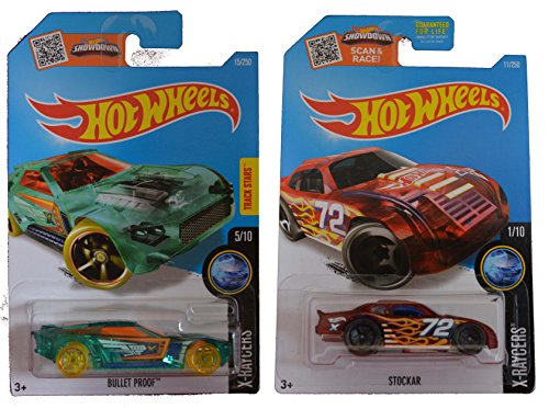 Hot Wheels 2016 X-Raycers Bullet Proof & Stockcar 2-Car Set (Silver Bullet Hot Wheels compare prices)