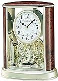 Woodgrain Teardrop Clock in Brown Finish