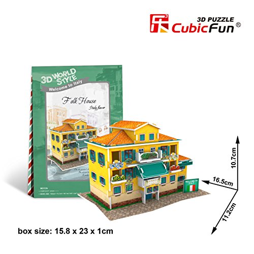 CubicFun 3D Puzzle World Style-Series ''Italy Flavor - Folk House'' - 1