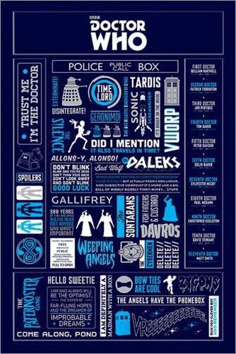 Poster Doctor Who - Infographic - manifesto risparmio, cartellone XXL