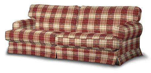 FRANC-TEXTIL 666-142-06 Ekeskog funda sofá no plegable, no plegable Ekeskog, Mirella, burdeos/marrón