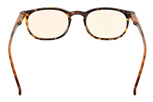 Eyekepper Vintage UV Protection Glasses with Anti reflective Coating 0.00 Strength Eyeglasses(Amber Tinted Lens-Tortoise)