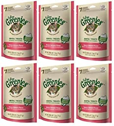 Feline Greenies Dental Treats Savory Salmon for Cats, 5.5-Ounce 2-Pack