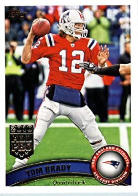 2011 Topps Football Card # 400 Tom Brady / (red jersey) - New England Patriots - NFL Trading Card in a Protective Case!