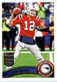 2011 Topps Football Card # 400 Tom Brady / (red jersey) - New England Patriots - NFL Trading Card in a Protective Case! at Amazon.com