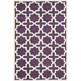 Safavieh CHT732F Chatham Collection Area Rug, 6-Feet by 9-Feet, Purple and Ivory