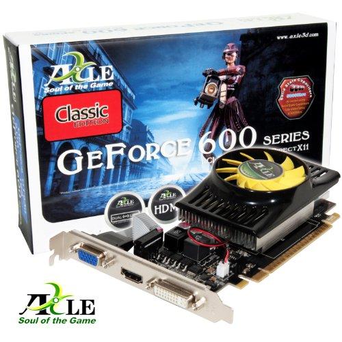 AXLE nVidia GeForce GT 630 Grafikkarte (PCI-e, 4GB GDDR3 Speicher, 128-Bit, Windows 7, DVI, VGA, HDMI)