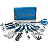 Wolfgang Puck 12 pc Garnish Essentials Set with Storage Case (Blue)