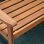 3 Seater Hardwood Garden Patio Bench