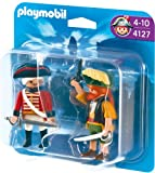 Toy - PLAYMOBIL 4127 - Duo Pack Pirat und Rotrock