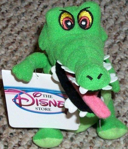 "Retired Disney Peter Pan 6"" Plush Captain Hooks Pet Crock Crocodile Bean Bag Doll - 1"