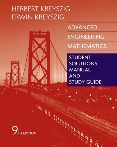 Thread: Advanced Engineering Mathematics, Student Solutions Manual and ...