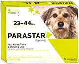 Novartis Parastar 3pk With Fipronil Flea and Tick Control For Dogs 23-44lbs (Green)