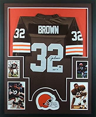Jim Brown Framed Jersey Signed Mounted Memories COA Autographed Cleveland Browns