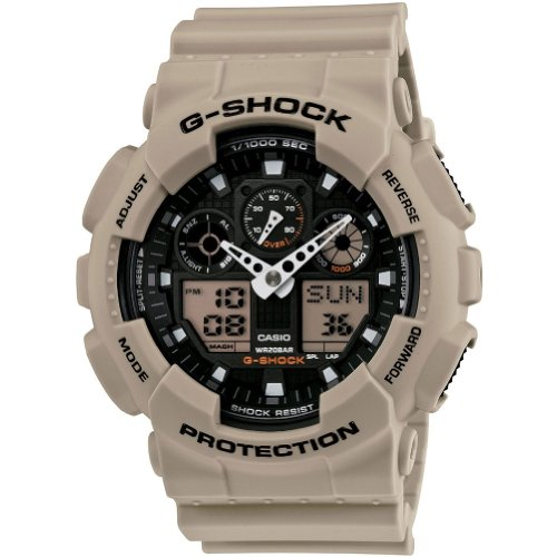 Casio Men's GA100SD-8A G-Shock Military Sand Resin Analog-Digital Watch