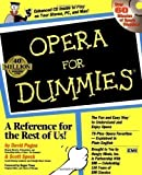 img - for Opera For Dummies by Pogue, David, Speck, Scott [21 August 1997] book / textbook / text book