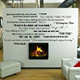 Classic Movie Quotes 254.00cm (100in) W x 29.21cm (12.5in) H Wall Sayings