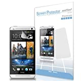 amFilm (TM) Premium Screen Protector Film Matte Clear (Anti-Glare/Anti-fingerprint) for HTC One (3 Pack) [Lifetime Replacement Warranty]