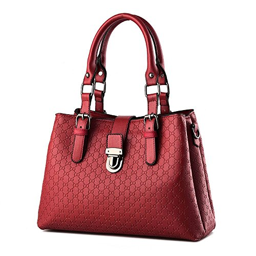 Koson-Man-Borsa Vintage da donna, borsetta per impugnatura, rosso (Rosso) - KMUKHB328