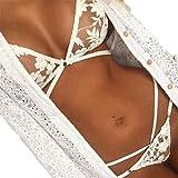 Ouneed 1 set Lace Transparent Bra Bralette Haute + Bas